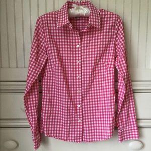 Pink & White Banana Republic Button Down Shirt